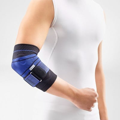 Bauerfeind – EpiTrain – Elbow Support – Breathable Knit Elbow Brace Targeted Compression