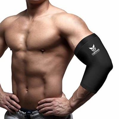Copper Compression Gear Premium Fit Recovery Elbow Sleeve for Men and Women