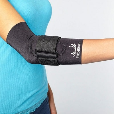 Elbow Compression Sleeve with Supportive Strap and Gel Comfort