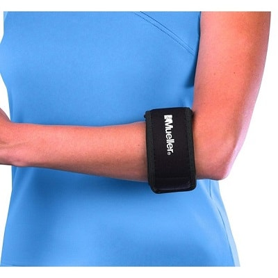 Mueller Tennis Elbow Support, Black, One Size Fits Most (Pack of 1)