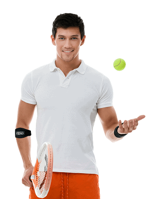 Simien Tennis Elbow Brace (2-Count), Tennis & Golfer's Elbow Pain Relief with Compression Pad
