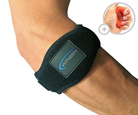 WITKEEN 2-Pack Tennis Elbow Brace with Compression Pad Adjustable Elbow Support for Tendonitis